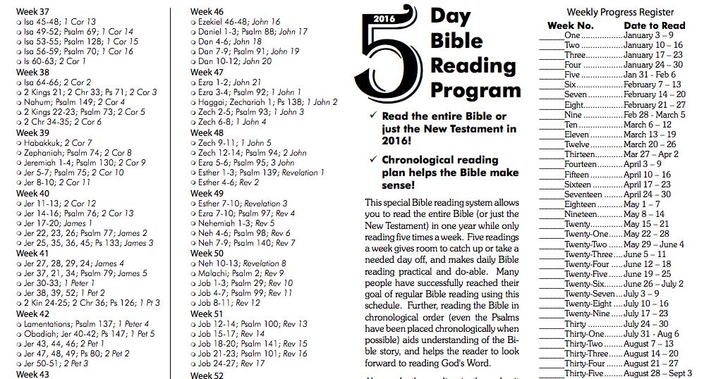 Bible-Reading – Dan werthman